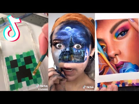 16 Minutes Straight of Artists on Tik Tok being Creative as Heck 🎨✨