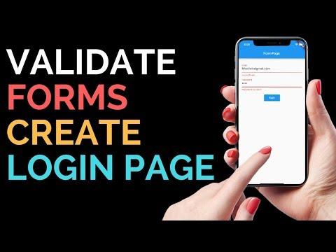 Flutter: Validate Forms   Create Full Fledged Login Form