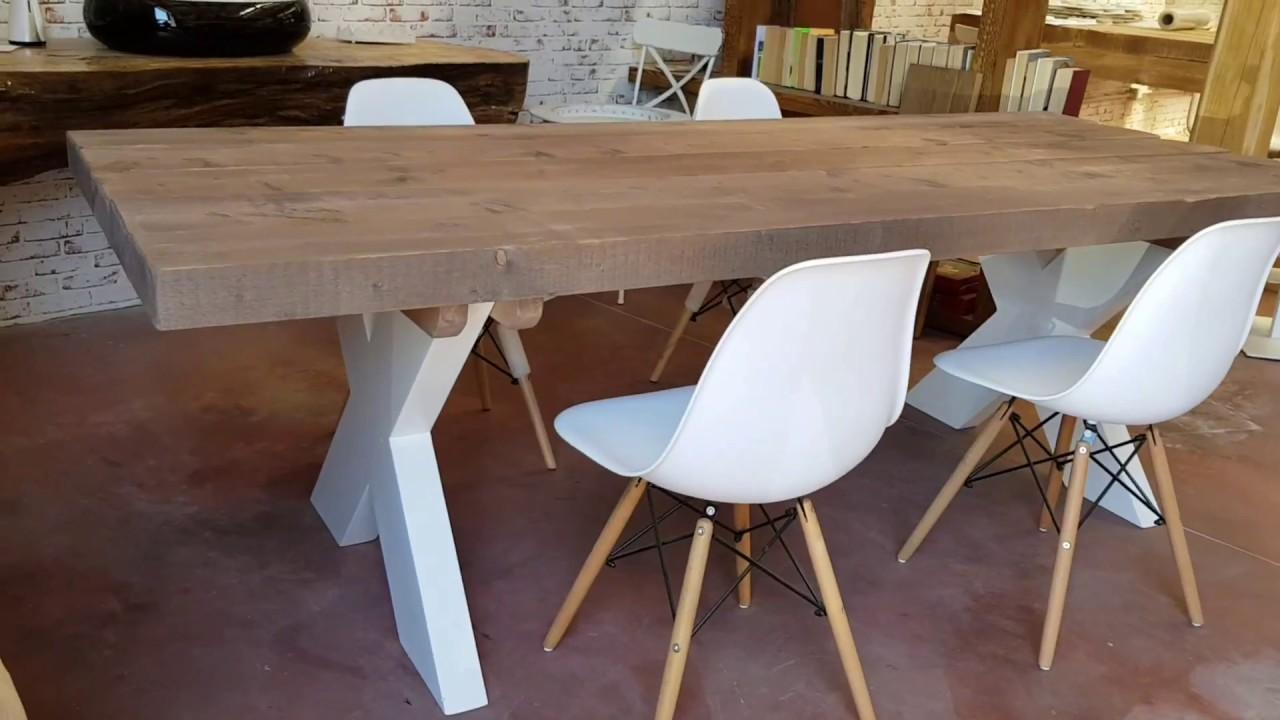 Xlab Tavolo Vintage Rustico Design Originale Made In Italy