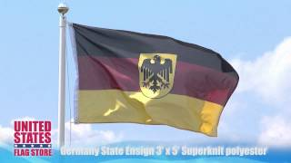 Germany State Ensign 3x5 Super Knit