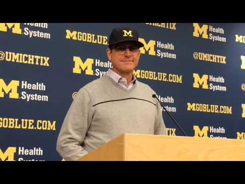 Jim Harbaugh on Michigan State, Mark Dantonio, the play and the rivalry