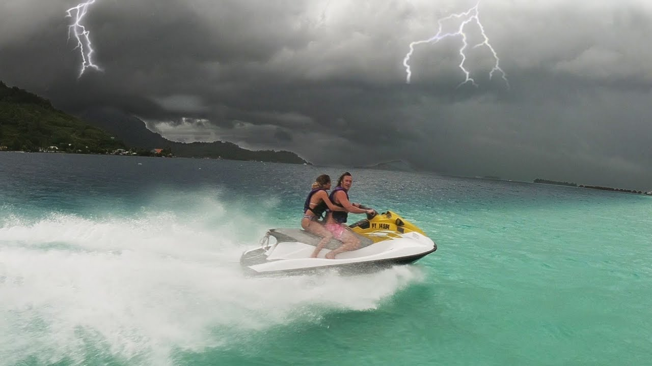 Jet Skiing in a Thunder Storm!