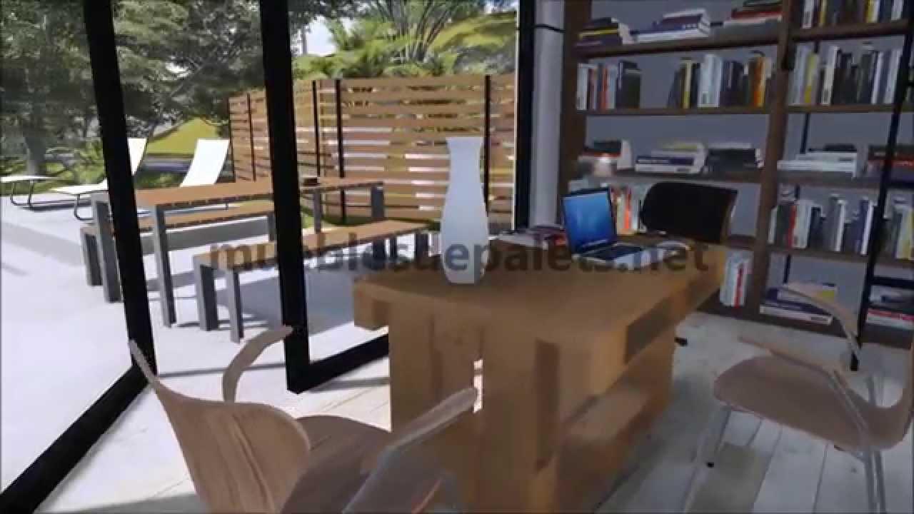 Instrucciones paso por paso para hacer una mesa con 3 for Muebles de jardin con tarimas
