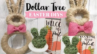 DOLLAR TREE SPRING DIY | FARMHOUSE EASTER BUNNY DECOR | DOLLAR TREE EASTER CRAFT
