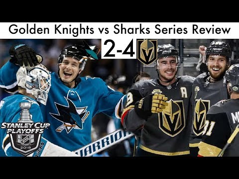 NHL Vegas Golden Knights vs San Jose Sharks Playoff Series Review