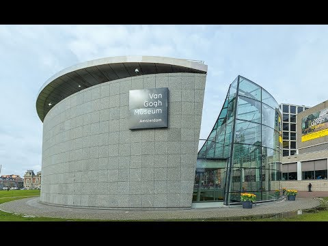 Visiting Van Gogh Museum, Museum in Amsterdam, Netherlands