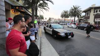 HUNTINGTON BEACH RIOTS  2013 PART #1    7/28/13