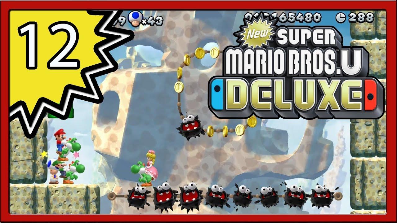 New Super Mario Bros U Deluxe Part 12 4 Player Youtube