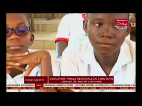 Business 24/Focus éco- Education : finale régionale du concours graine de savoir à Bouaké