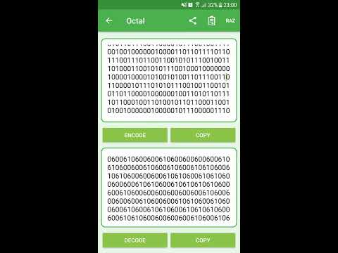 Convert your texts in Binary, Octal or Hexadecimal easily