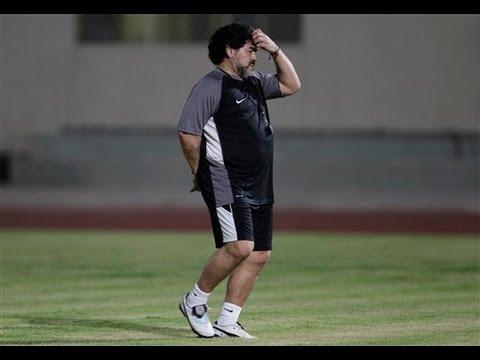 Primer entrenamiento de Maradona en Emiratos