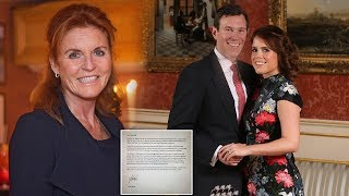 SARAH shares open letter shutting down 'inflammatory' article about Princess Eugenie's wedding