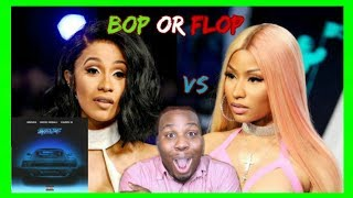 "NICKI MINAJ VS CARDI B "" MOTOR SPORTS"" REACTION! (WHO VERSE IS BETTER!?)