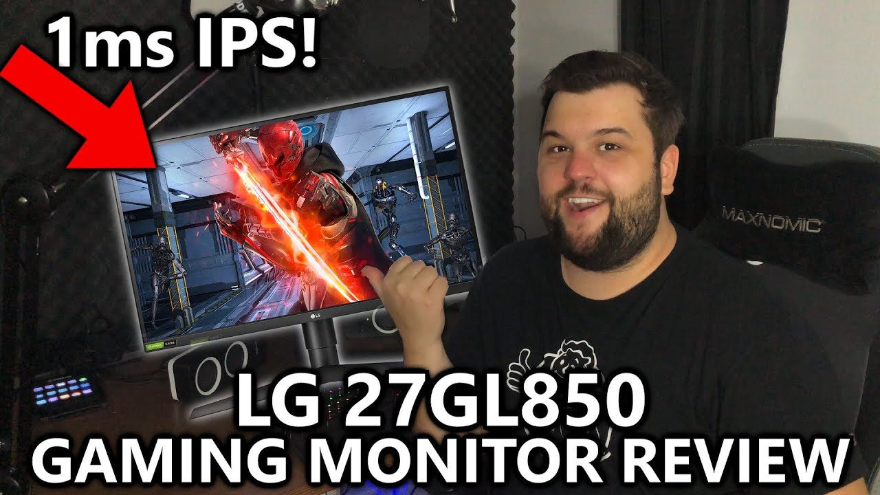 LG 27GL850 Gaming Monitor Review - The Best 1440p Monitor of 2019? 144Hz  IPS Panel 1ms Response Time