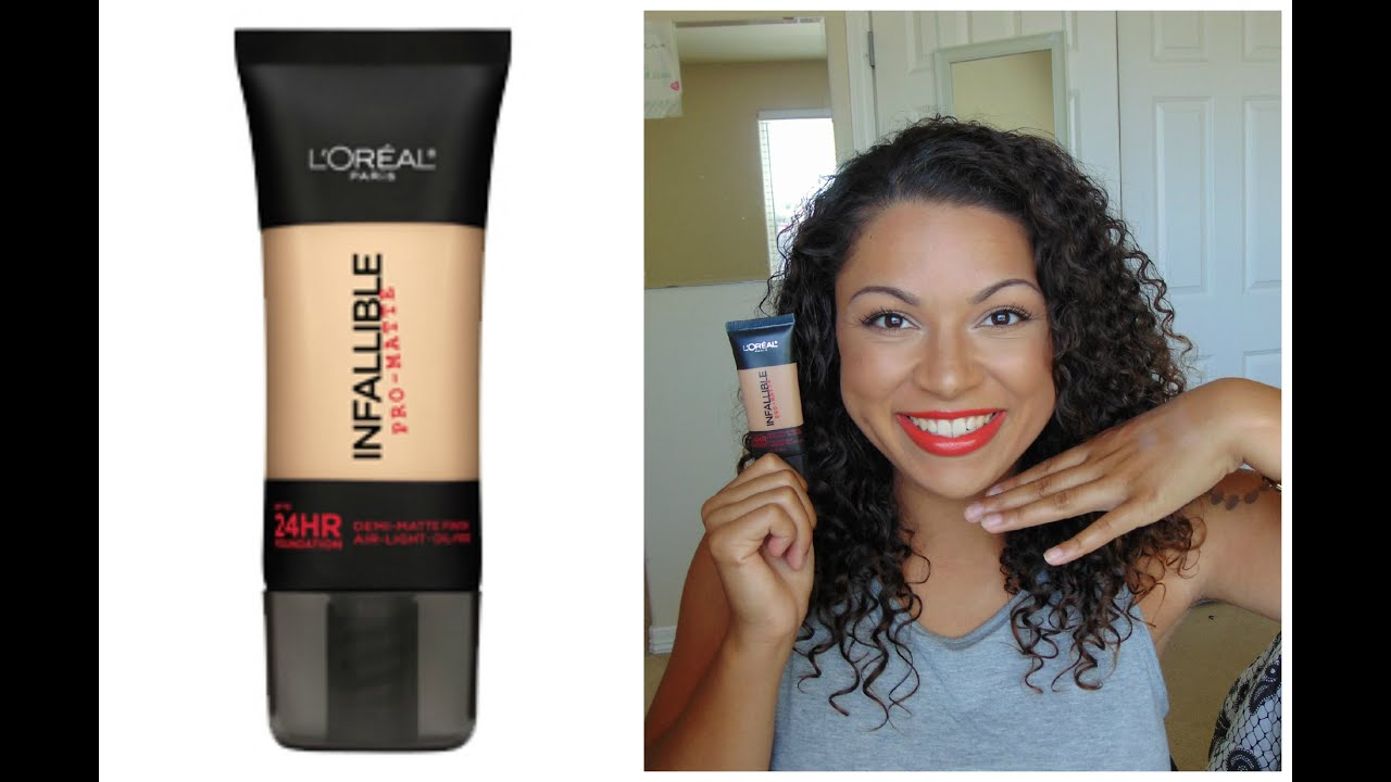 Loreal Infallible Pro Matte Foundation 24hr First Impression Youtube
