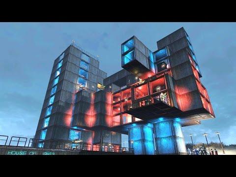 Fallout 4 Settlement Building - 'House Of Lights' - No Mods - Nordhagen Beach