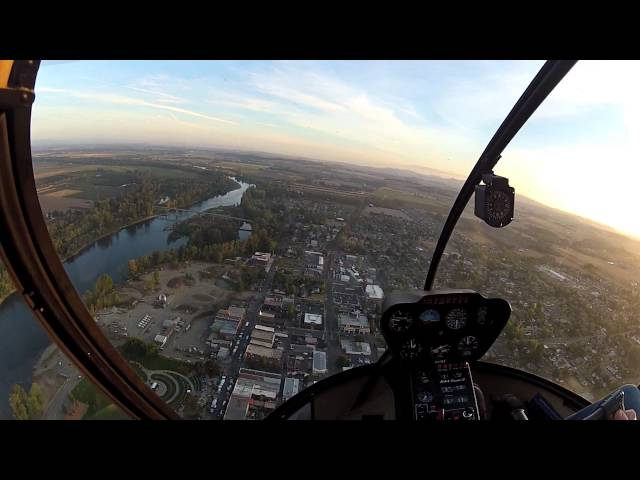 Helicopter Ride over Independence, OR