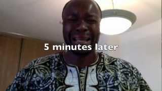 A Nigerian watching USA vs Nigeria Olympics Basketball Aug 2nd, 2012