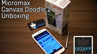 Micromax Canvas Doodle 2 A240 Unboxing, First Hands on feat Galaxy Mega 5.8 - iGyaan