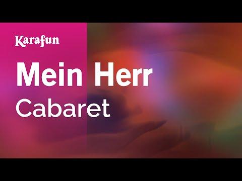 Karaoke Mein Herr - Cabaret *