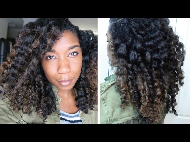 Twist Out for Moisturized Colored Natural Hair | Highlights Transitioning + Damaged