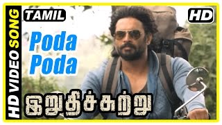 Irudhi Suttru Tamil Movie | Scene | Title Credit | Poda Poda song | Madhavan transferred to Chennai