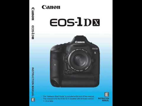 Canon 1dx Manual Pdf