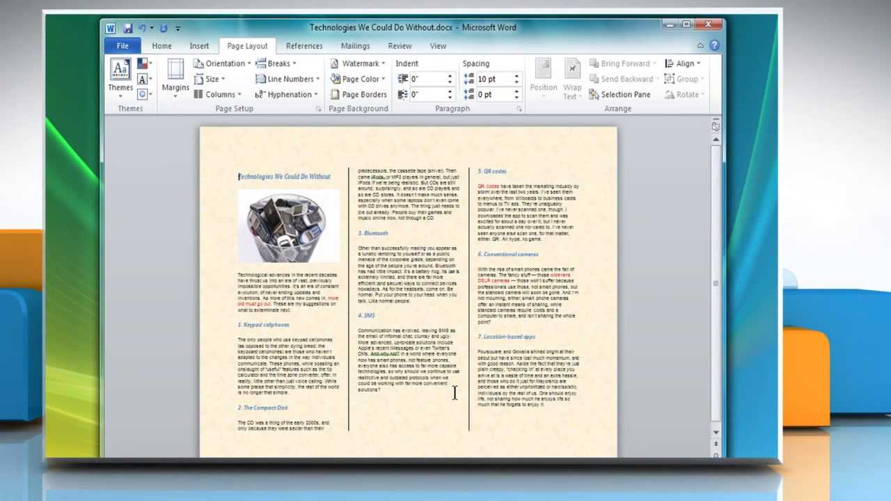 How to Make a TriFold Brochure in Microsoft Word 2007 YouTube
