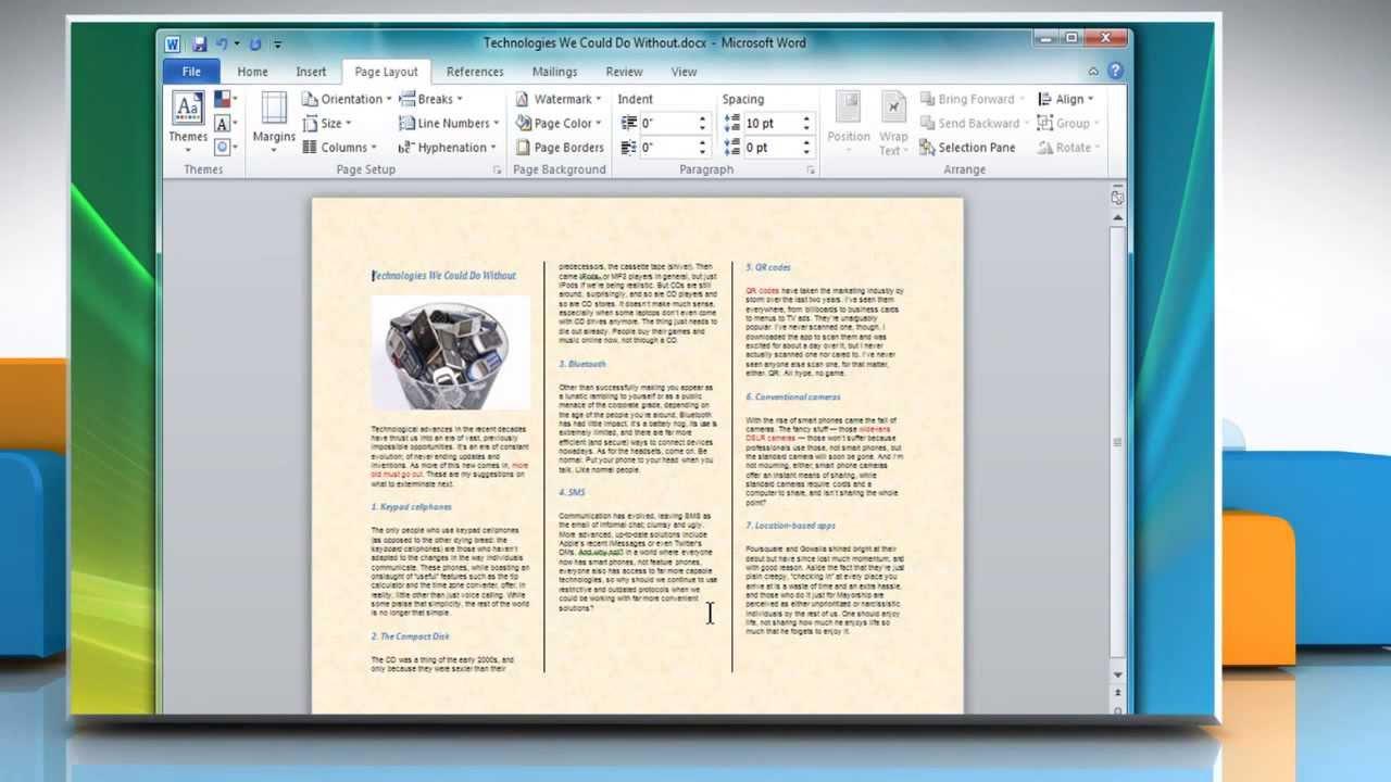 How To Make A Tri Fold Brochure In Microsoft® Word 2007 YouTube