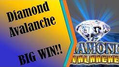 #74 - BIG WIN!! MAX BET BONUS!! - Diamond Avalanche