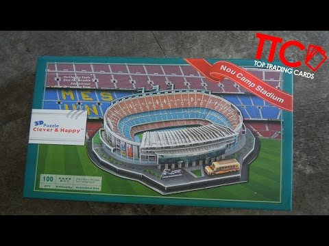 3D PUZZLE UNBOXING FC BARCELONA CAMP NOU Aufbau Infos Talk