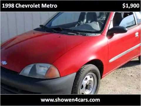 1998 chevrolet metro used cars wilmington oh youtube for Showen motors wilmington ohio