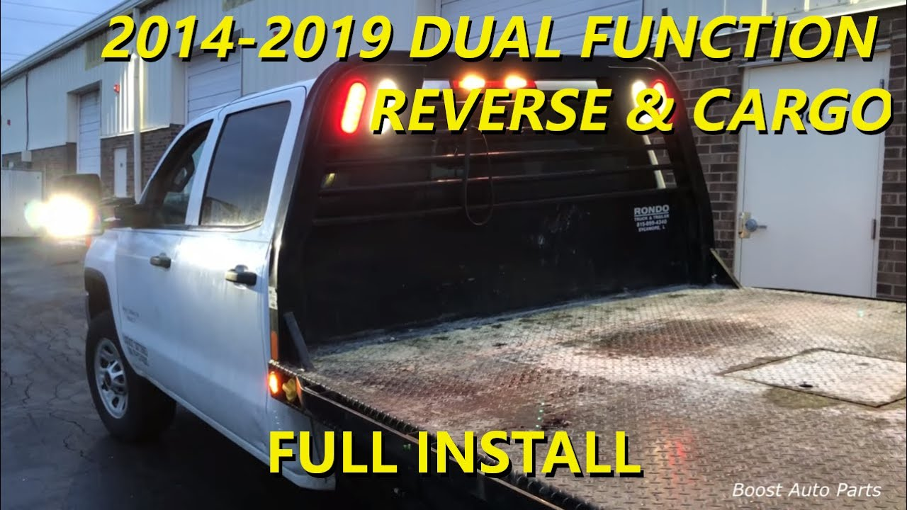 small resolution of 2014 2019 gm tow mirror reverse cargo install dual function