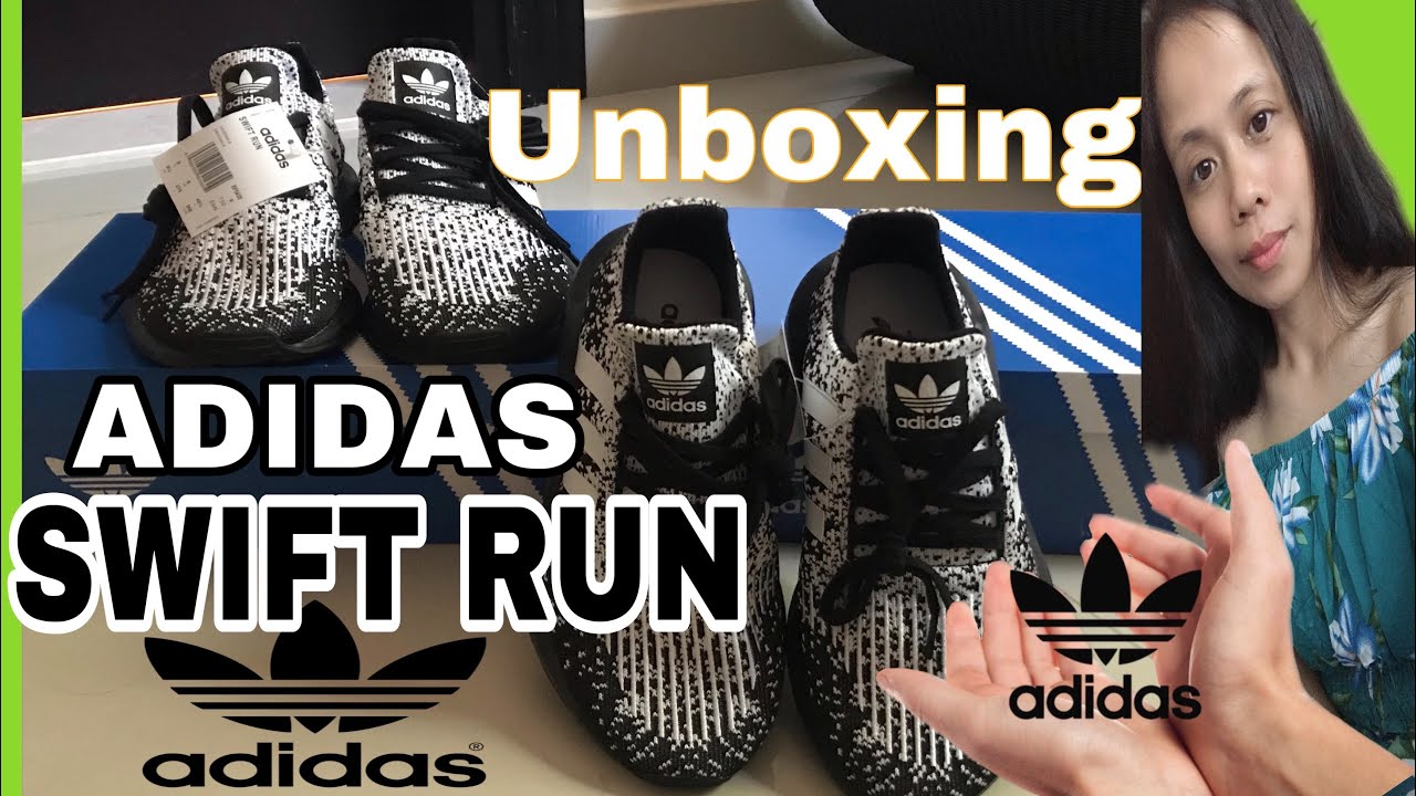 Pino Promover cansada  SILENT UNBOXING SWIFT RUN ADIDAS SHOES /Ate Rose Dee - YouTube