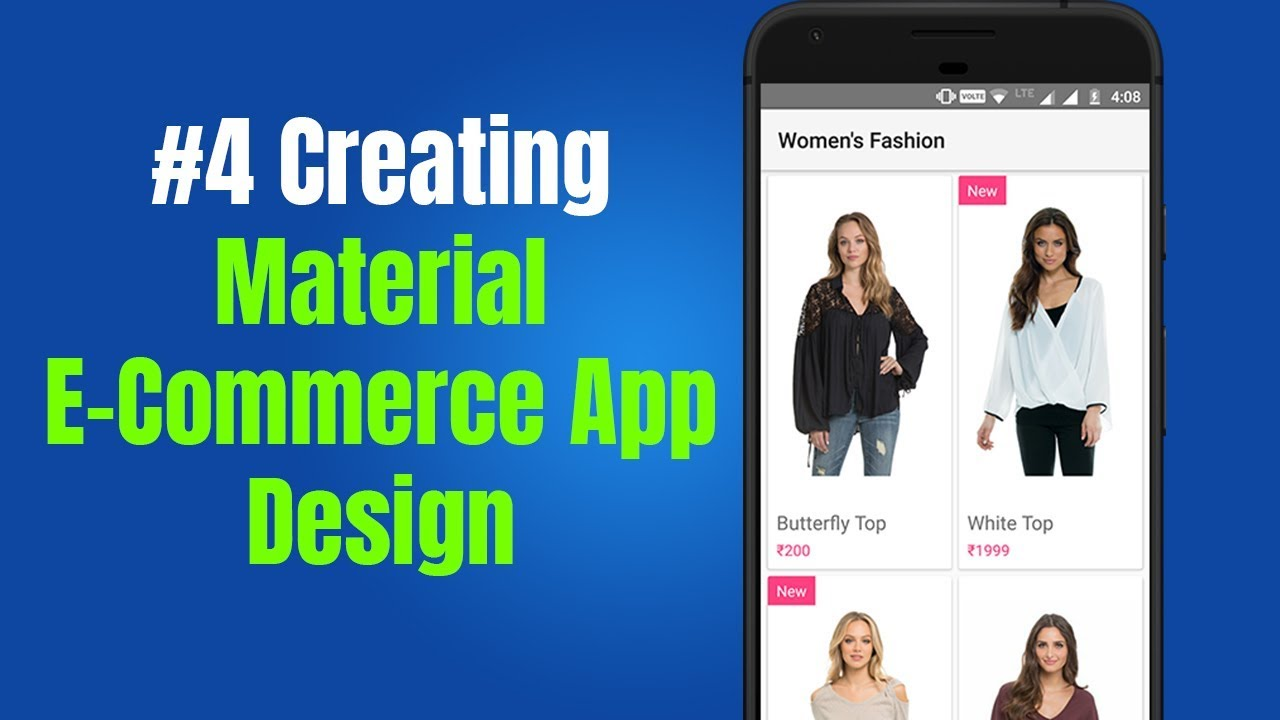 Material E-Commerce App Design in Android Example | LoopWiki
