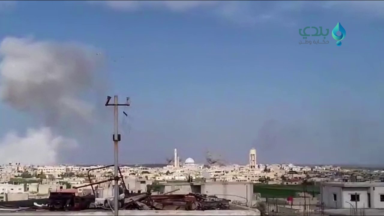 Shelling of Kafr Zita in Northern Hama countryside