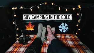 Fall Car Camping Iฑ Michigan   Cold Weather SUV Camping in my Toyota Rav 4!