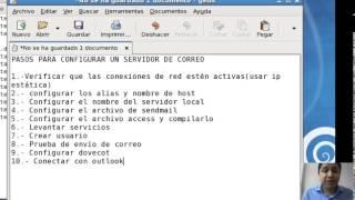 Servidor de Correo sendmail (tarea hecha para maestría)