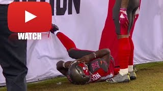 Isaiah Johnson Violently Collides with a Wall (HD) Steelers vs Buccaneers