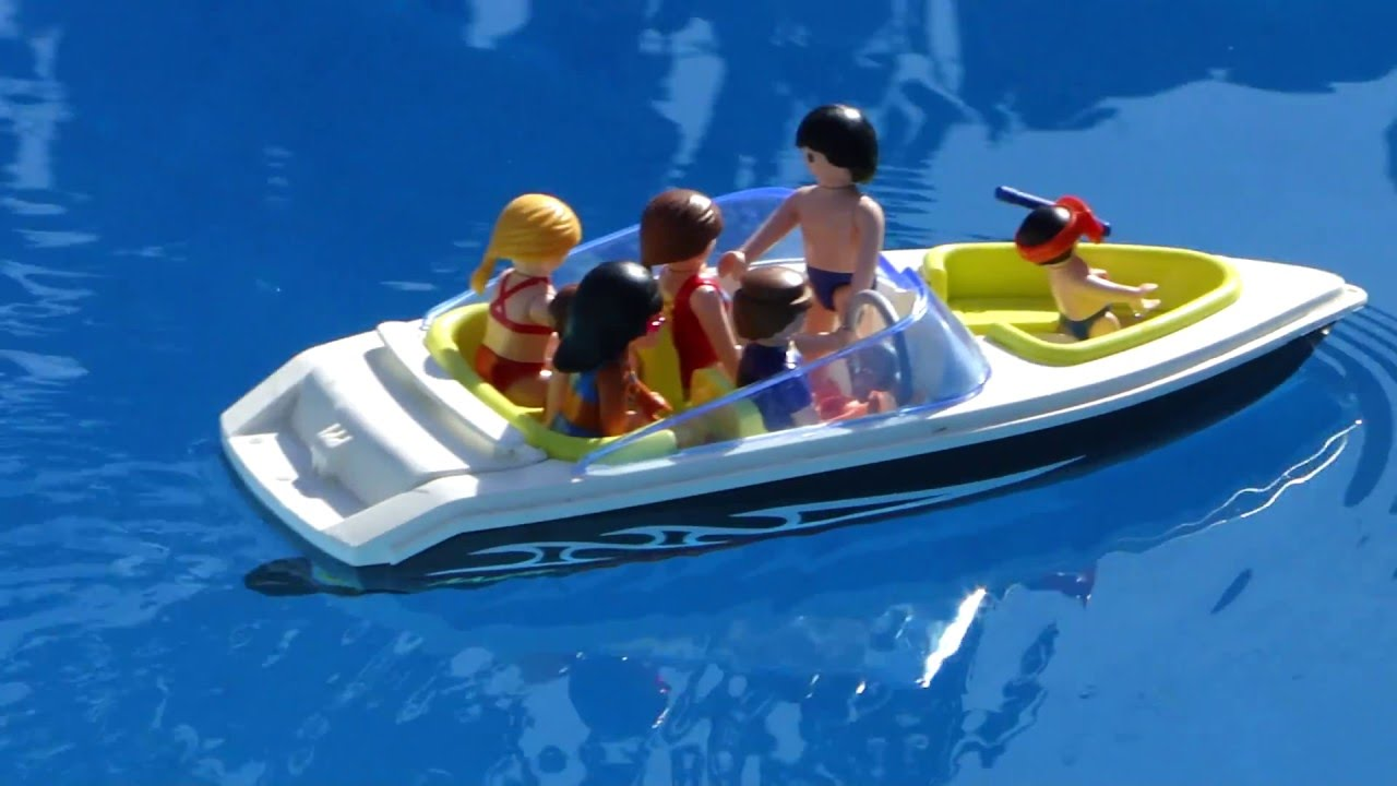 Playmobil boat bateau vacances family youtube for Piscine playmobil