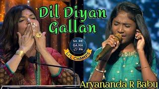 Dil Diyan Gallan-Aryananda R Babu - Atif Aslam-vishal shekhar-Saregamapalittlechamps2020