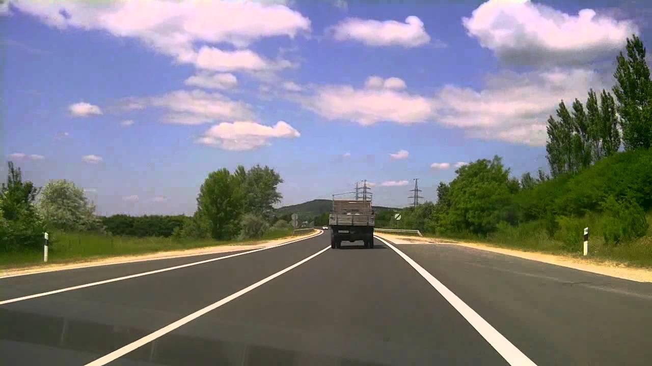M2 northbound + road #12 to Nagymaros