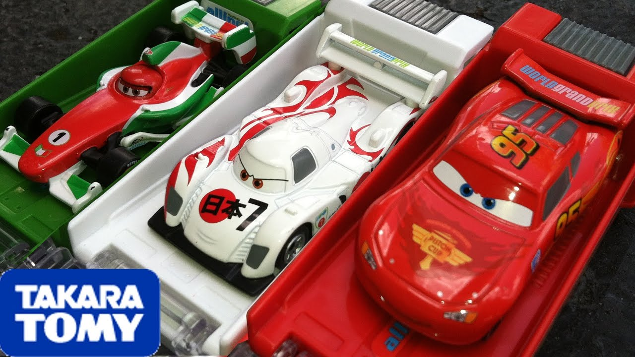 Cars 2 tomica shooter box launcher lightning mcqueen for 2 box auto profondo