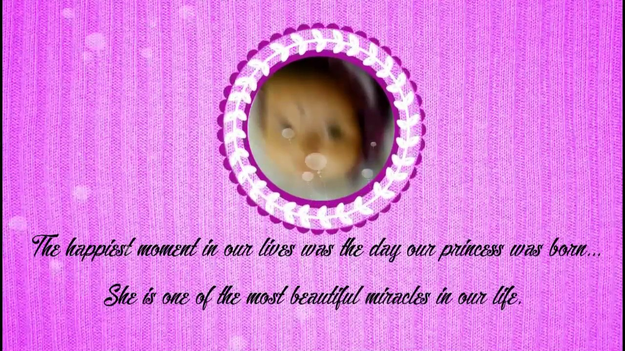 CRADLE / NAMING CEREMONY WhatsApp INVITATION FOR BABY GIRL - YouTube