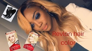 How to color a weave| black to blonde using Revlon color | South African youtuber