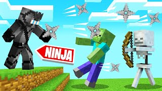 Playing MINECRAFT As A NINJA! (Stealth)