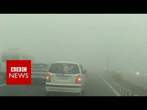 Hair-raising drive through Delhi smog – BBC News