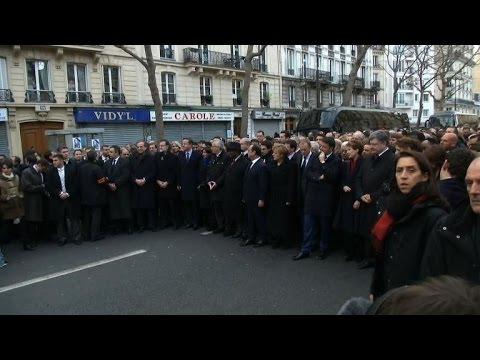 Paris: les dirigeants s'installent pour la marche