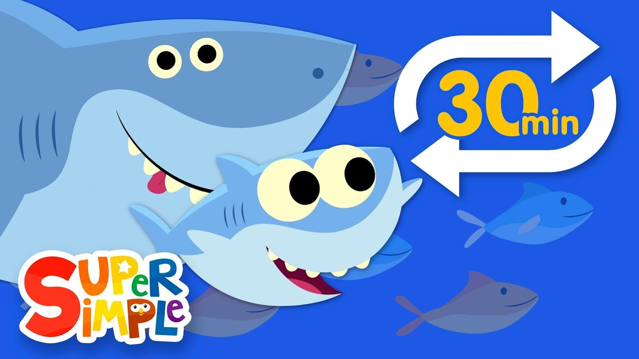 Baby Shark Extended Mix 30 Mins Kids Songs Super