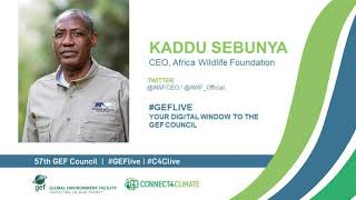 Kaddu Sebunya at GEF Live - Your digital window to the 57th Council
